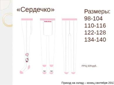 «Сердечко» Размеры: 98-104 110-116 122-128 134-140 РРЦ 329 руб. Приход на скл...