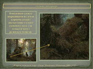 Лесной «интерьер» «Утро в сосновом бору» Иван Иванович Шишкин.1889, ГТГ Повал...