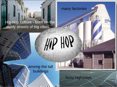 Hip-hop culture - born on the dusty streets of big cities among the tall buil...
