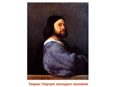 Тициан: Портрет молодого человека