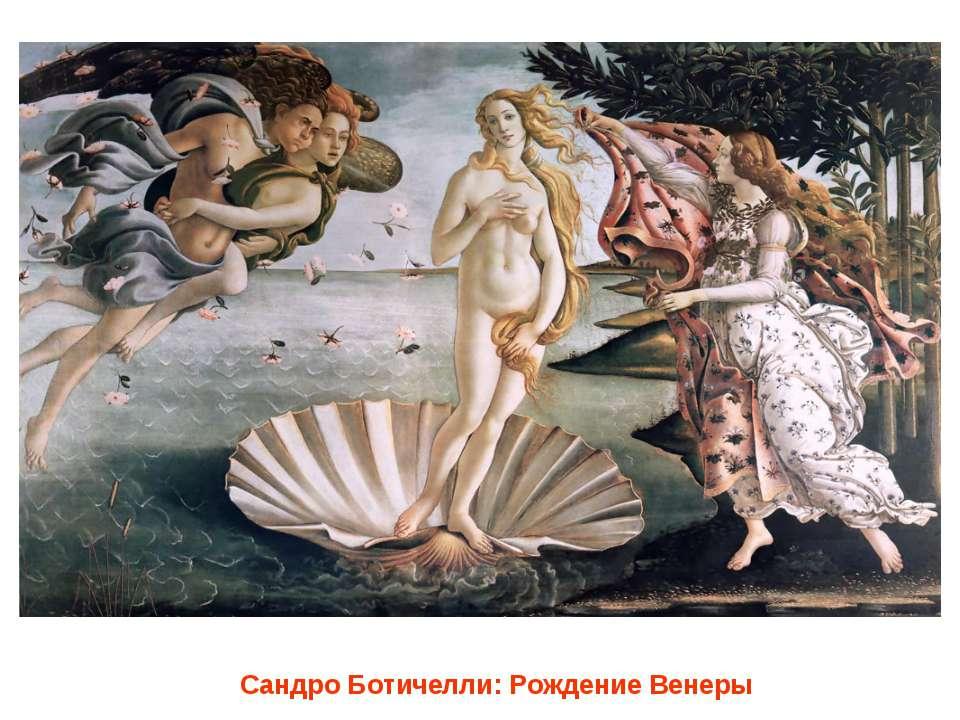Сандро Ботичелли: Рождение Венеры