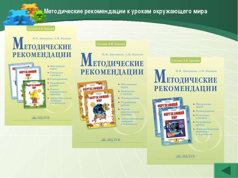 Методические рекомендации к урокам окружающего мира