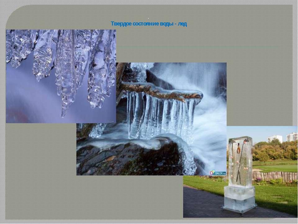 . Твердое состояние воды - лед