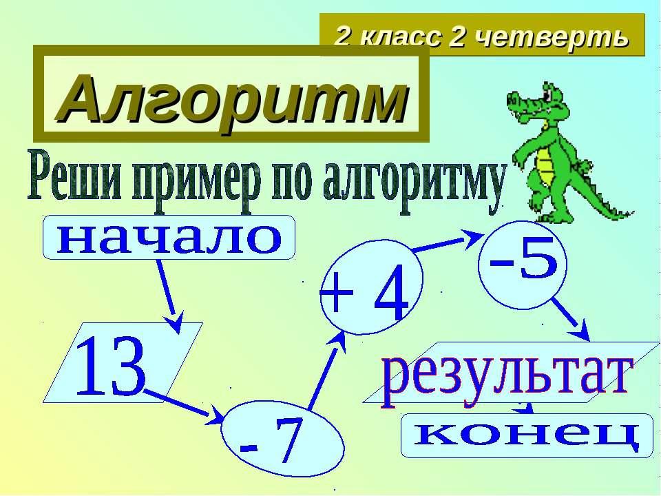 Алгоритм 2 класс 2 четверть