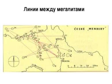 Линии между мегалитами