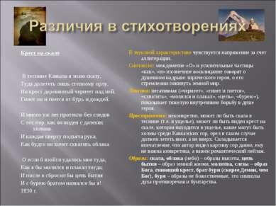 Крест на скале В теснине Кавказа я знаю скалу, Туда долететь лишь степному о...