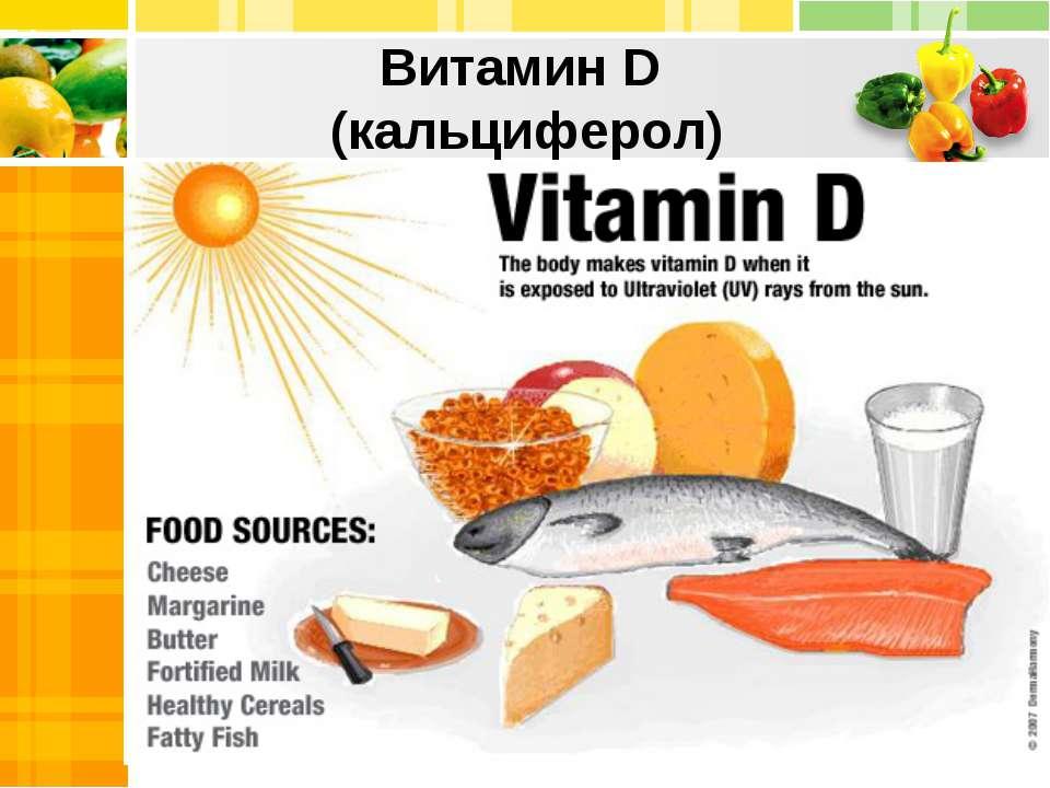 Витамин D (кальциферол) Title in here Title in here Title in here Title in here