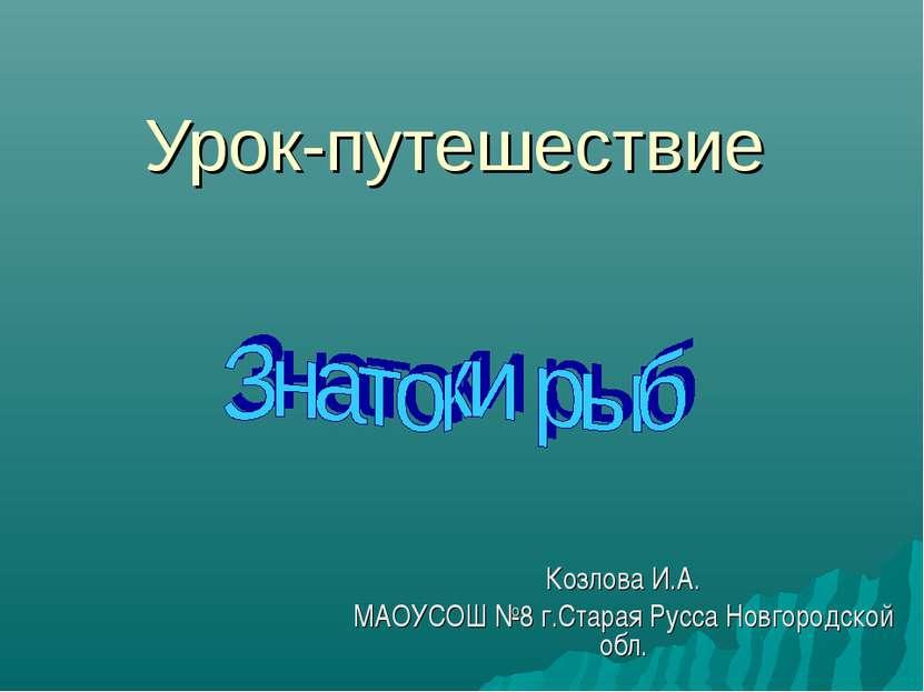 Урок-путешествие Козлова И.А. МАОУСОШ №8 г.Старая Русса Новгородской обл.