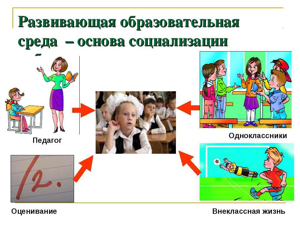 Развивающая образовательная среда – основа социализации ребенка Педагог Оцени...