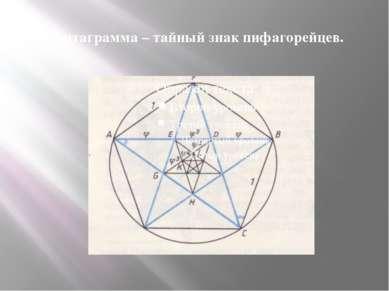 Пентаграмма – тайный знак пифагорейцев.