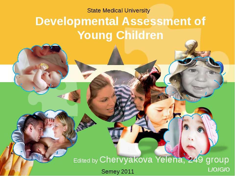 Developmental Assessment of Young Children Edited by Chervyakova Yelena, 249 ...