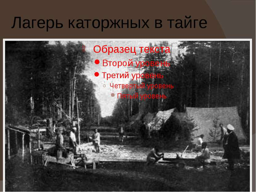 Лагерь каторжных в тайге