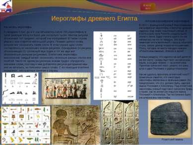Иероглифы древнего Египта Как читать иероглифы К середине II тыс. до н.э. нас...