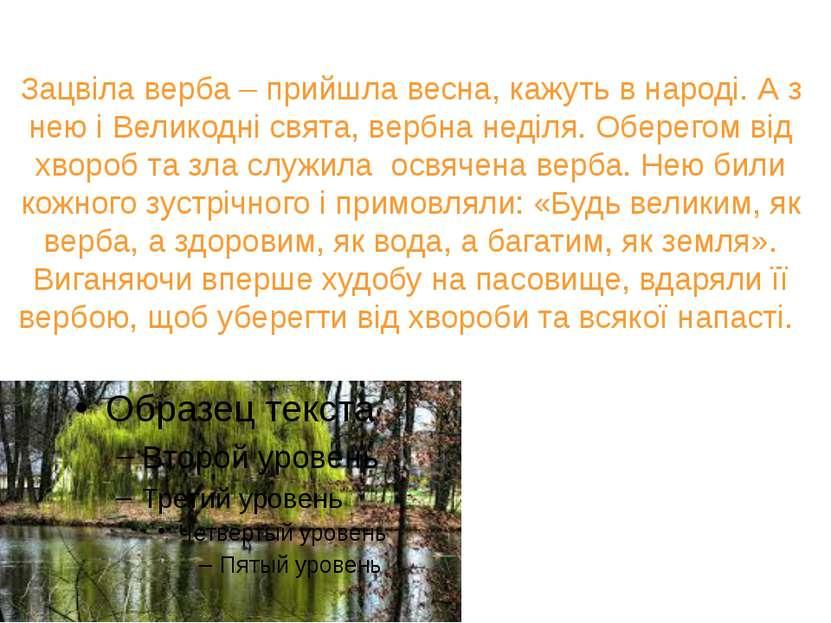 Зацвіла верба – прийшла весна, кажуть в народі. А з нею і Великодні свята, ве...