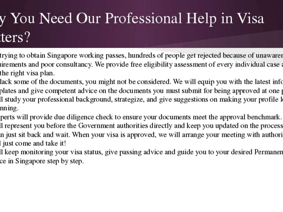 Why You Need Our Professional Help in Visa Matters? • While trying to obtain ...