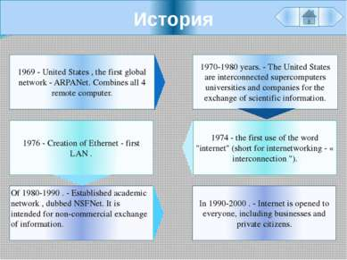 История In 1990-2000 . - Internet is opened to everyone, including businesses...