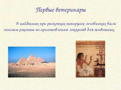 В найденных при раскопках папирусах-лечебниках были описаны рецепты по пригот...