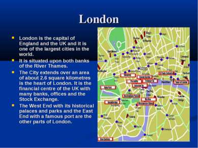 London London is the capital of England and the UK and it is one of the large...