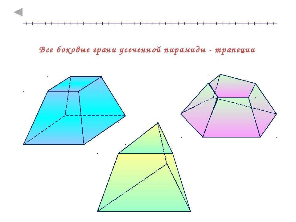 Все боковые грани усеченной пирамиды - трапеции