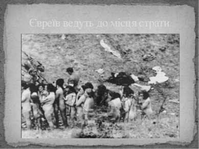 Євреїв ведуть до місця страти