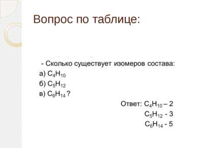Вопрос по таблице: