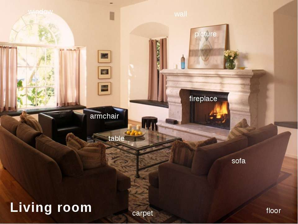sofa table carpet picture window wall floor fireplace armchair Living room