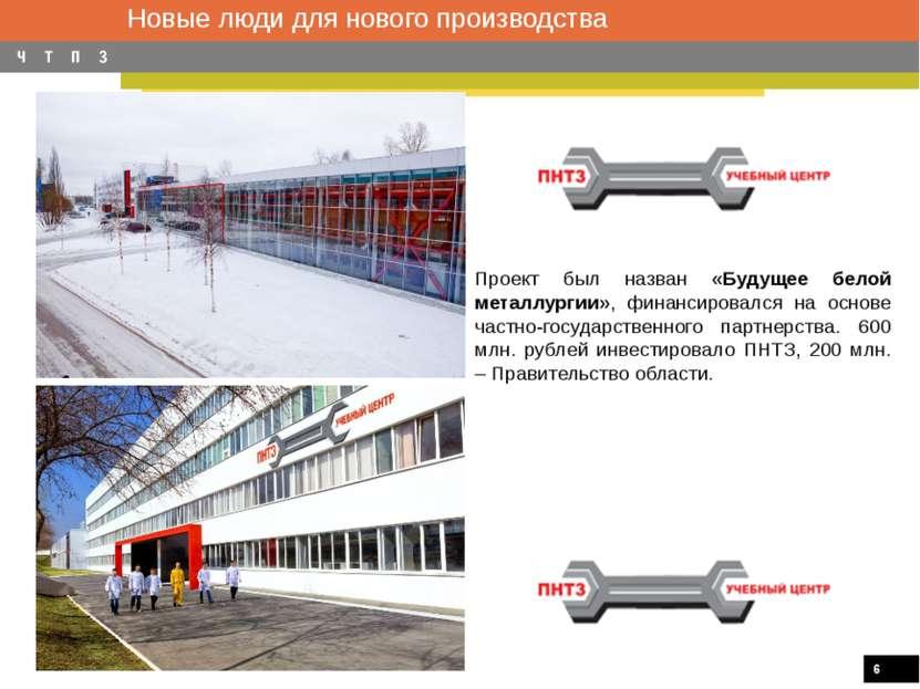 Новые люди для нового производства Проект был назван «Будущее белой металлург...