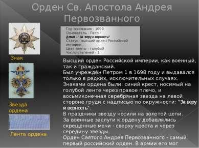 Орден Св. Александра Невского ОрденСвятогоАлександра Невскогобыл задуманП...