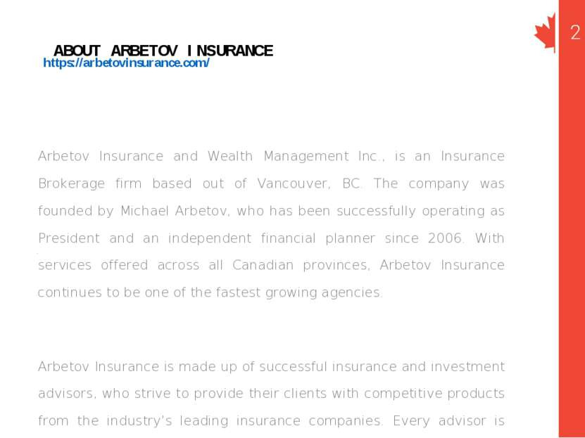 https://arbetovinsurance.com/ Arbetov Insurance and Wealth Management Inc., i...