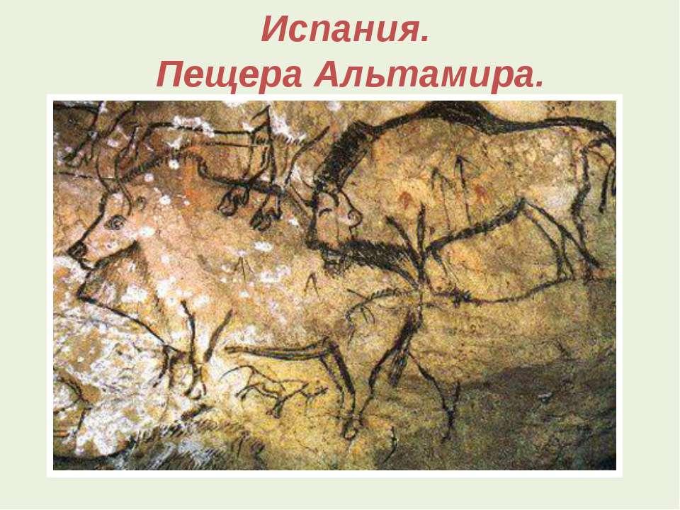 Испания. Пещера Альтамира.