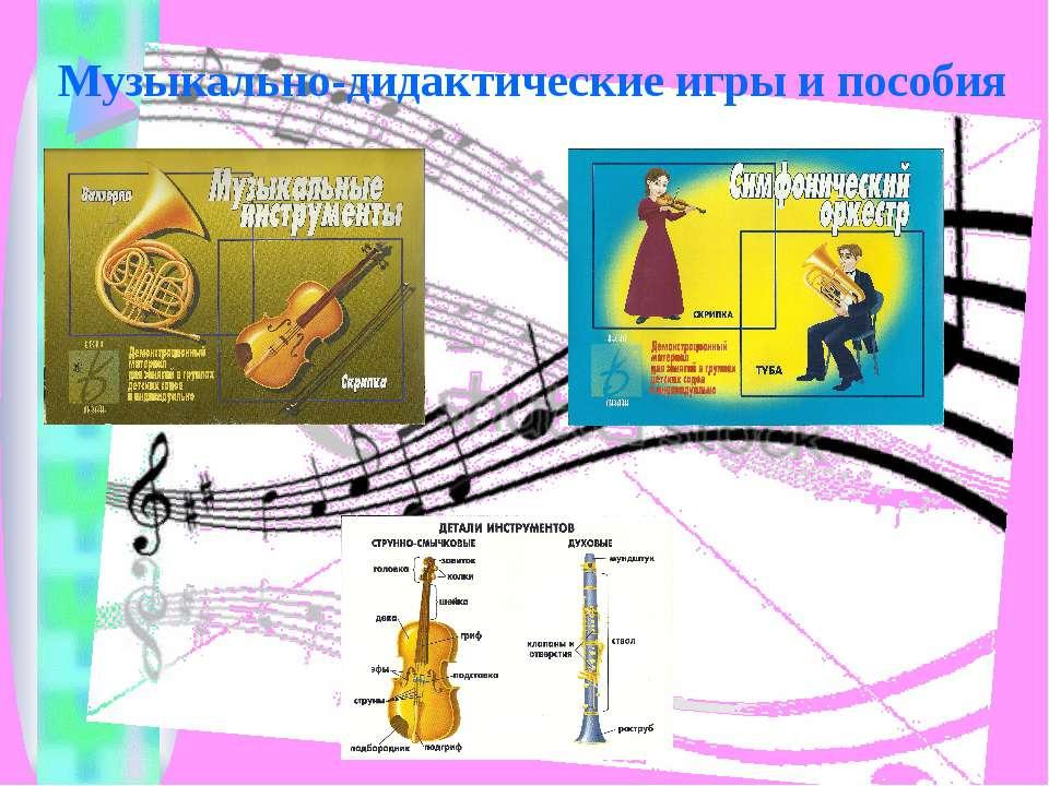 Музыкально-дидактические игры и пособия