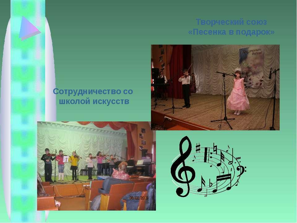 Творческий союз «Песенка в подарок» Сотрудничество со школой искусств