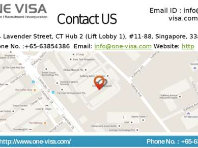 Contact US 114 Lavender Street, CT Hub 2 (Lift Lobby 1), #11-88, Singapore, 3...