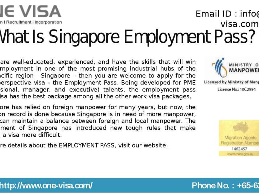 What Is Singapore Employment Pass? If you are well-educated, experienced, and...