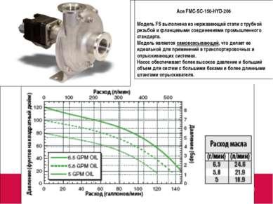 Ace FMC-SC-150-HYD-206 Модель FS выполнена из нержавеющей стали с трубной рез...