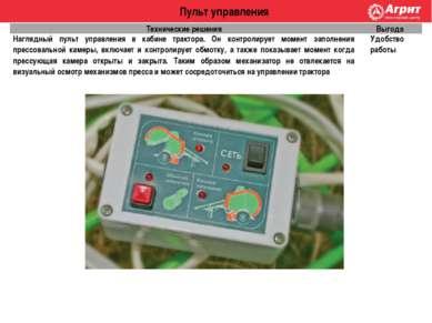 Пульт управления Технические решения Выгода Наглядный пульт управления в каби...