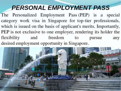 PERSONAL EMPLOYMENT PASS The Personalized Employment Pass(PEP) is a special ...