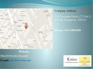 Website http://www.one-visa.com/ E-mail: info@one-visa.com Company Address: 1...