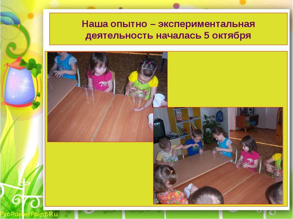 Наша опытно – экспериментальная деятельность началась 5 октября ProPowerPoint.Ru