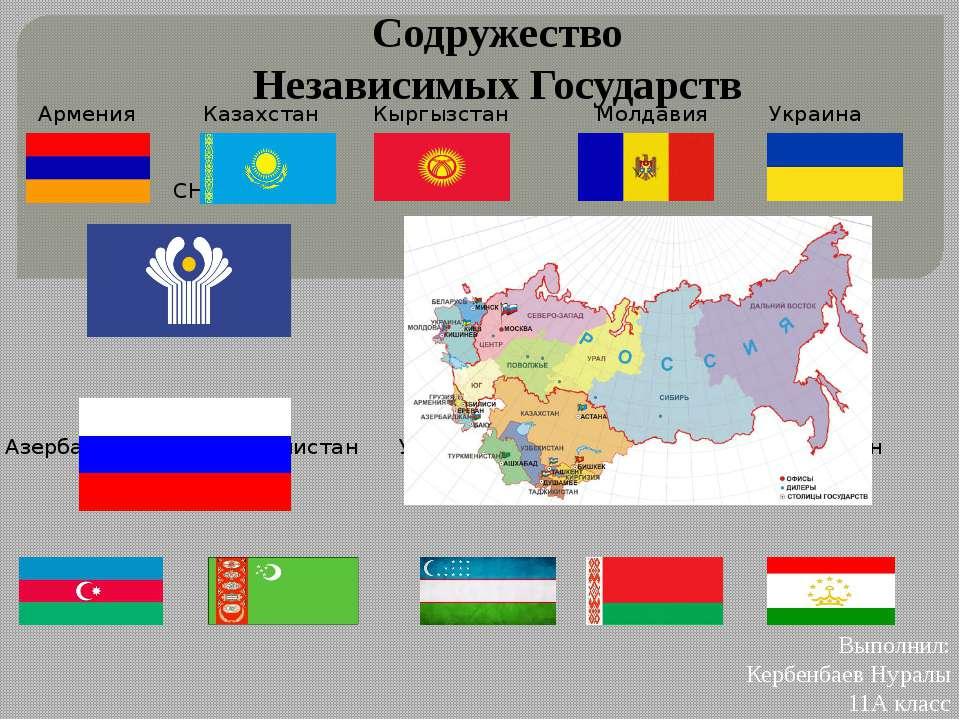 Армения Казахстан Кыргызстан Молдавия Украина СНГ Россия Азербайджан Туркмени...