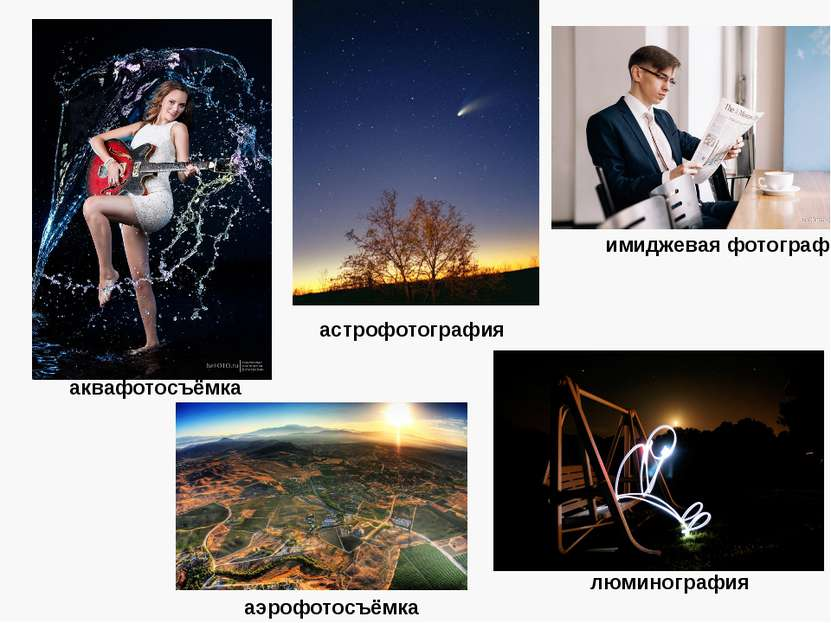 аквафотосъёмка астрофотография аэрофотосъёмка имиджевая фотография люминография
