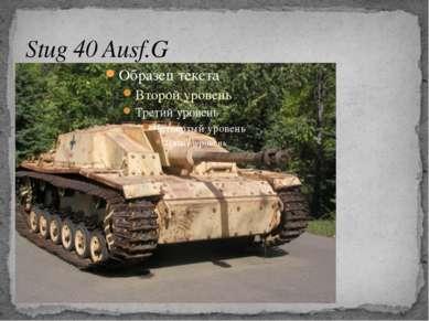Stug 40 Ausf.G