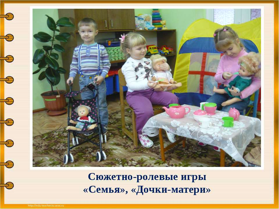 Сюжетно-ролевые игры «Семья», «Дочки-матери»