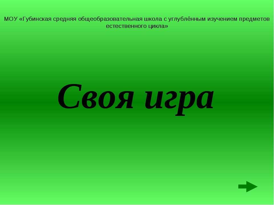 МОУ «Губинская средняя общеобразовательная школа с углублённым изучением пред...