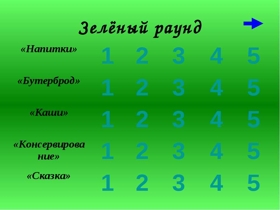 Зелёный раунд