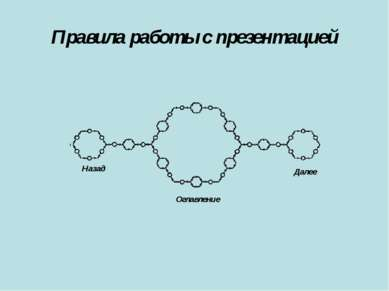 Правила работы с презентацией Оглавление Далее Назад