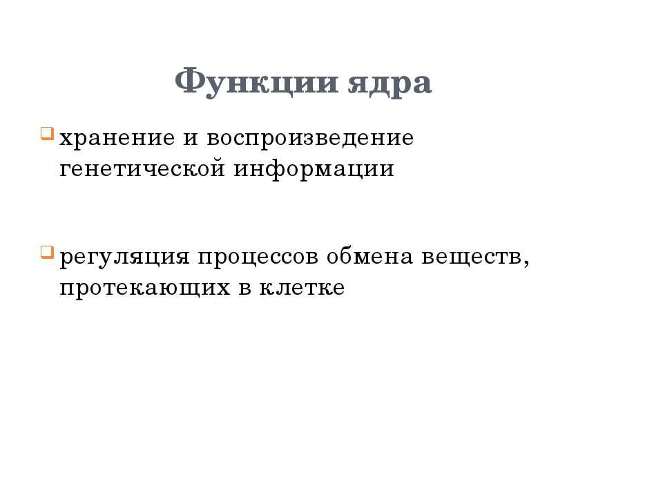 Эукариотическая клетка. Ядро Стародубова Надежда Ефимовна, учитель биологии М...