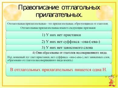 Правописание отглагольных прилагательных.