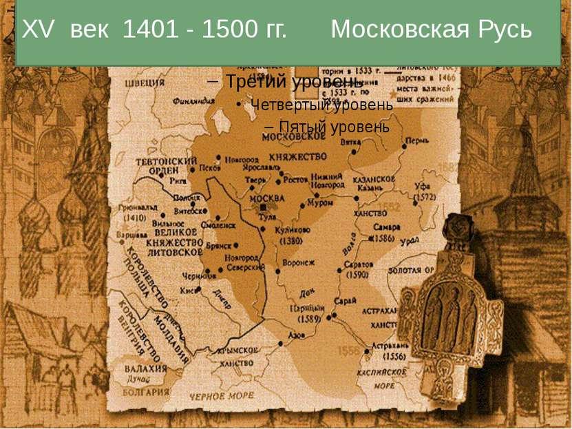 XV век 1401 - 1500гг. Московская Русь