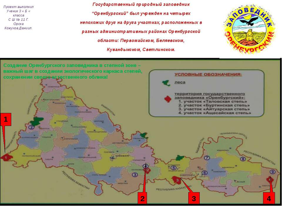 """Государственный природный заповедник """"Оренбургский"""" был учрежден на четырех н..."""
